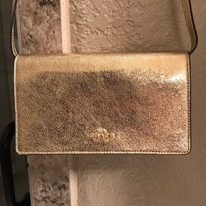 Metallic Gold Coach Purse